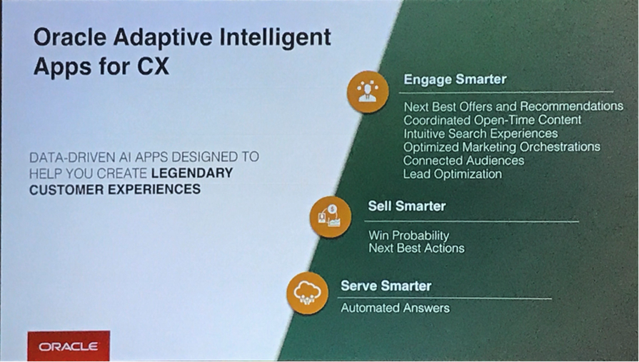 Oracle Adaptive Intelligent Apps for CX - Oracle OpenWorld 2018