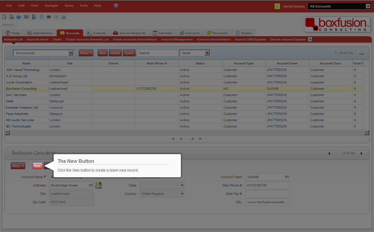 Screenshot of a custom-built Siebel help provider, demonstrating the power of the new Open UI framework.