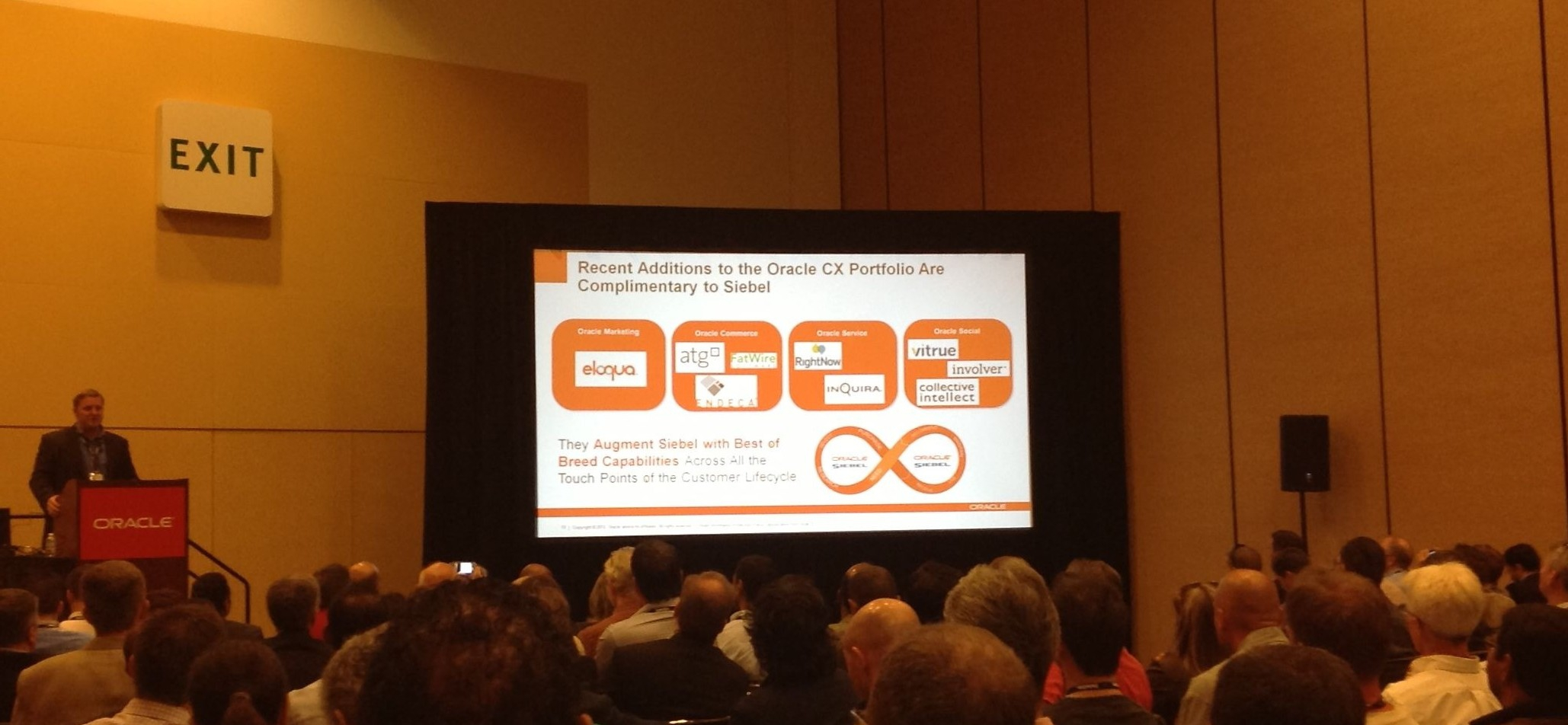 Siebel at the heart of Oracle's CX offering