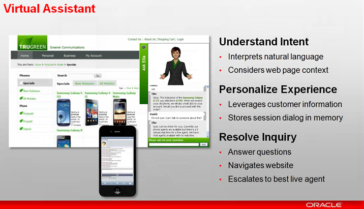 Oracle RightNow Virtual Assistant