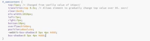 Desktop CSS Changes
