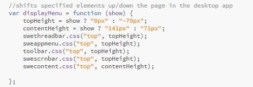 Desktop CSS Change