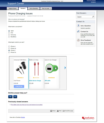 Siebel Portlet showing Siebel Products in an Open UI carousel in Oracle Sales Cloud Guide Assistance