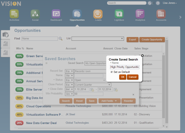 Defining your saved search based on an existing one