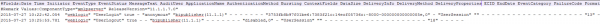 Fig 6 - Log entries in audit.log showing the Weblogic user logging in and out