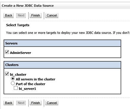 Fig 8 - Select the targets to deploy your data source to