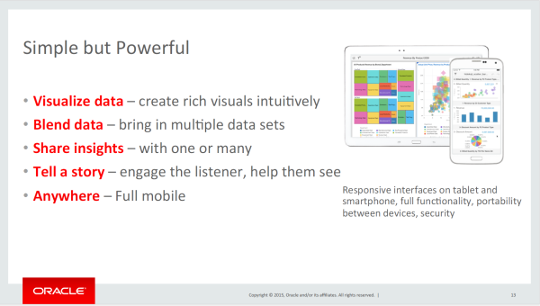 Oracle Data Visualization Cloud Service - Slide 13