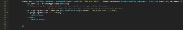 Siebel Open UI - Attach Checkbox Plug-in Wrapper