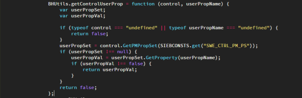 Siebel Open UI - Get Control User Properties Function