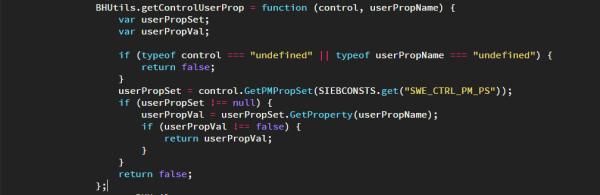 Siebel Open UI - Get Control User Properties Function