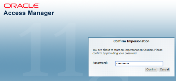 he Application Administrator is prompted for their password
