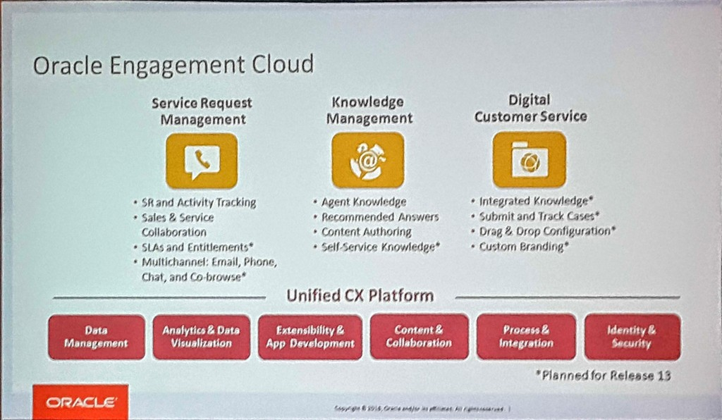 Oracle Engagement Cloud roadmap