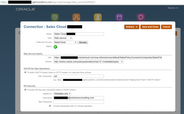 OPA Sales CLoud Connector View