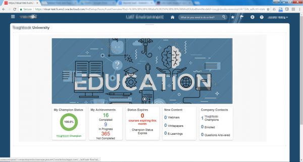E-learning dashboard